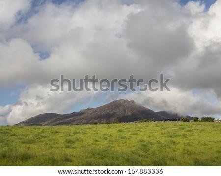 sleeve Binnian in the mourne mountain range of North Ireland - stock photo