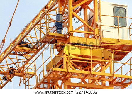 Slewing Mechanism of Tower Crane - stock photo