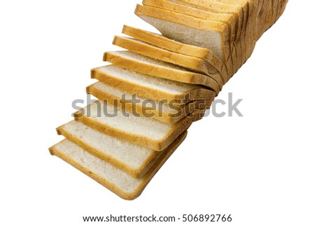 slice loaf bread on isolated background