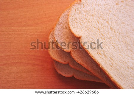 Slice of bread Delicious.For breakfast, snacks, and every time you want to eat. - stock photo