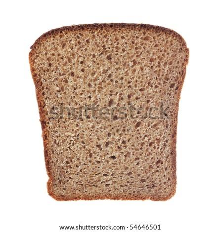 slice of bread on white background - stock photo
