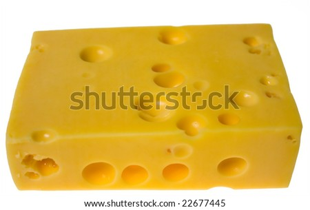 slice of cheese, isolated