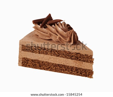 Slice of chocolate mousse cake