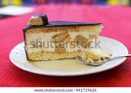 Slice of delicious cake - stock photo