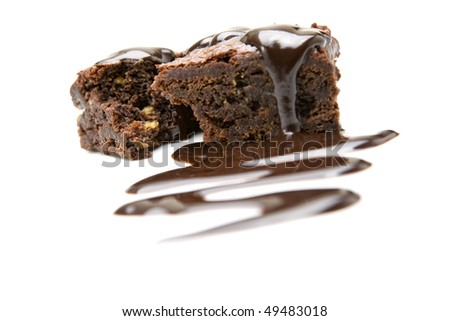 slice of fresh chocolate brownie desert snack