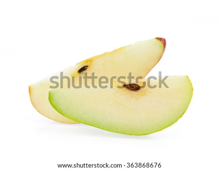 slice of pears isolated on white background - stock photo