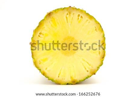 slice of pineapple - stock photo