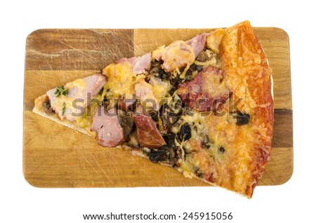slice of pizza - stock photo
