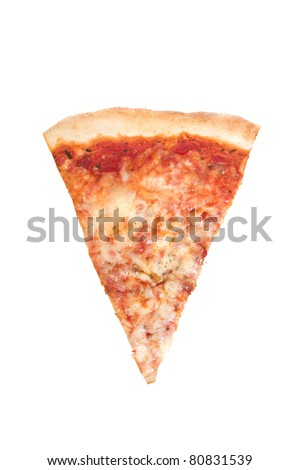Slice of Pizza Isolated on a White Background - stock photo