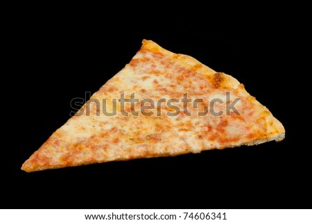 Slice of Pizza on a Black Background