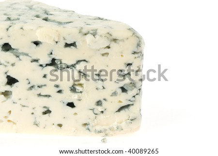 slice of stilton cheese