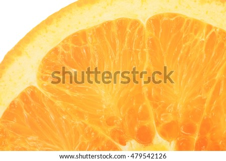 Slice of the orange