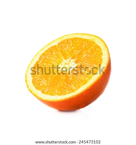 slice orange isolated on white