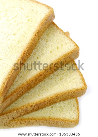 Sliced bread honey isolated on the white background - stock photo