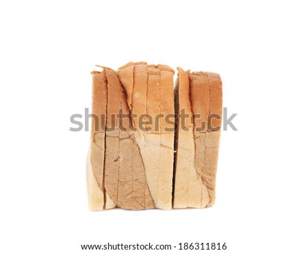 Sliced bread. Isolated on a white background.