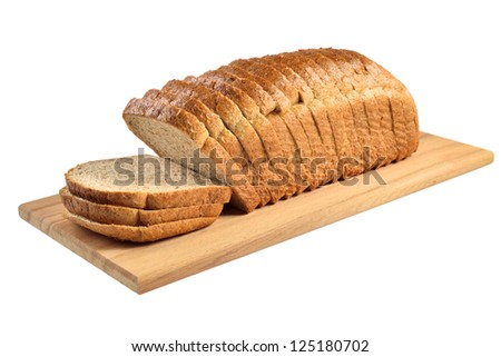 Sliced bread. Isolated on white. - stock photo