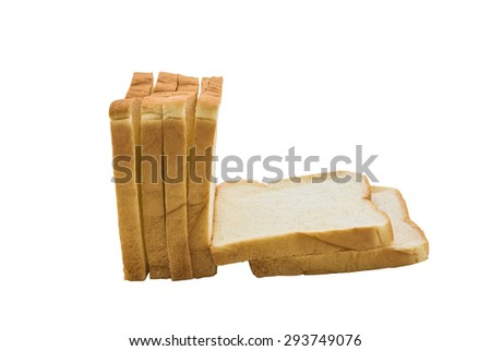 sliced bread isolated on white background with clipping path