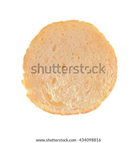 Sliced burger bun on white background - stock photo