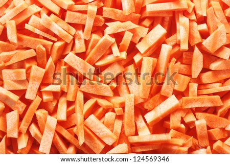 sliced carrot for texture or background