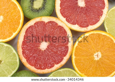 Sliced citrus collection