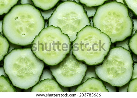 Sliced ??cucumber can be used as background - stock photo