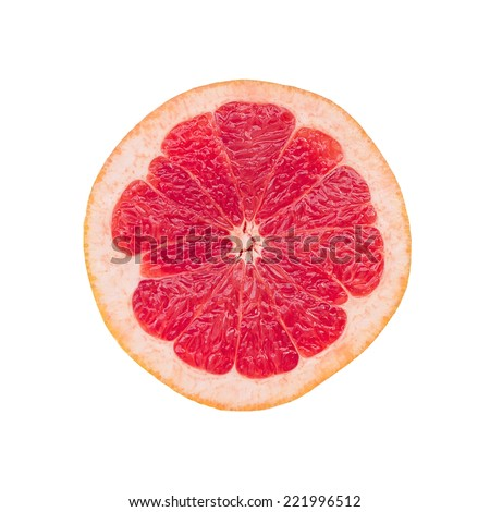 Sliced ??grapefruit on a white background - stock photo