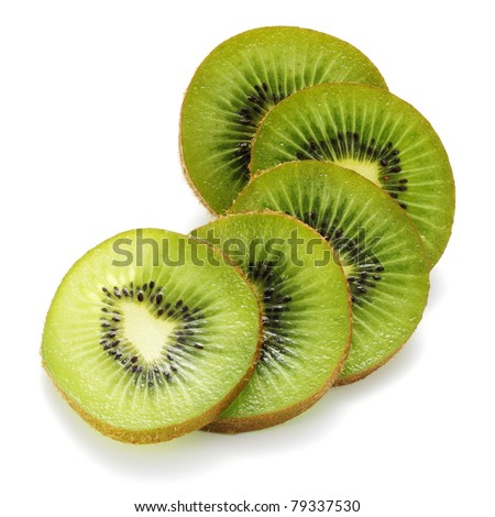 Sliced kiwi fruit - stock photo