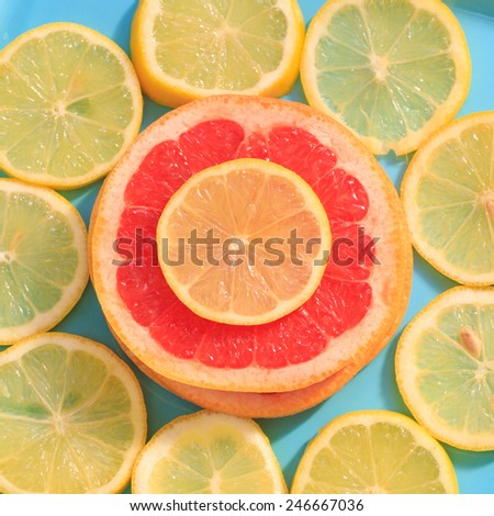 Sliced lemon fruit - stock photo