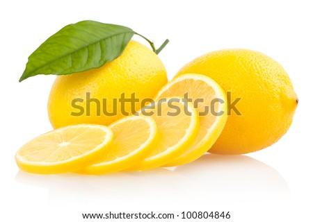 sliced lemons - stock photo