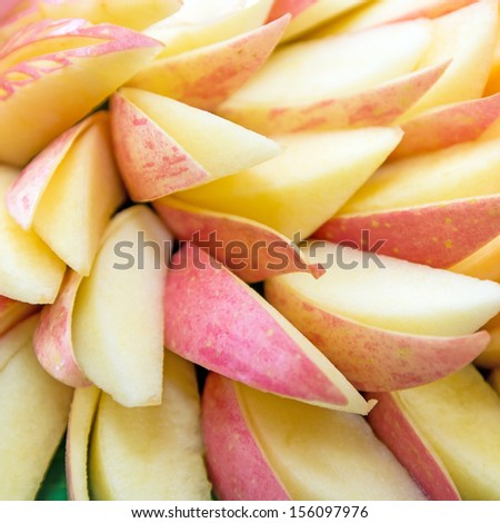 Sliced of  apple - stock photo