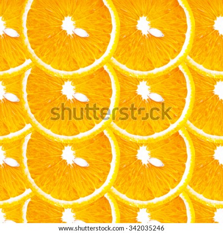 Sliced Orange Fruit background. Health food concept - stock photo