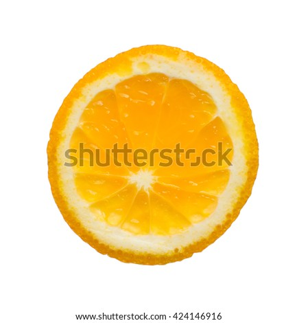 Sliced orange . The basis for the unusual logo - stock photo