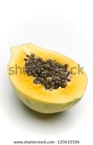 Sliced papaya - stock photo