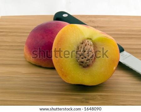 Sliced Peach - stock photo
