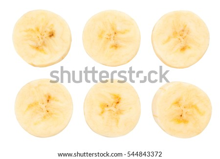 sliced peeled banana isolated