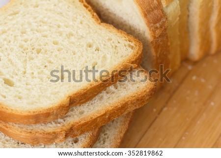 Sliced white bread - stock photo