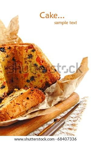 Slices of fruitcake - stock photo