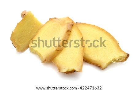 Slices of ginger