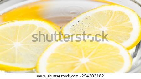 slices of lemon - stock photo