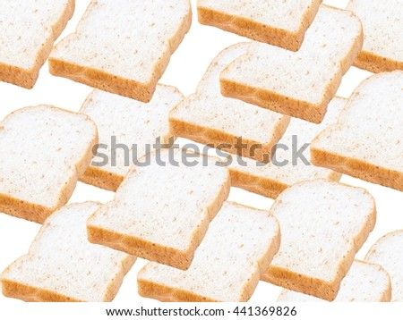 slices of soft whole wheat, whole grain bread breakfast pattern. ultimate bread work background. - stock photo