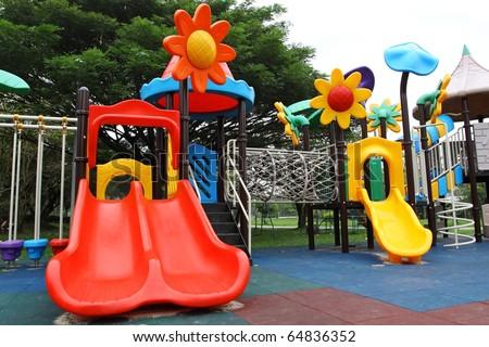 slide,amusement park - stock photo