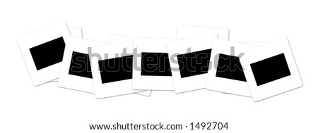 slide film line up easy to use and populate with your own images. - stock photo