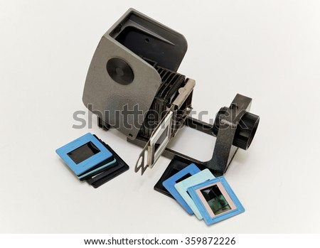 Slide projector for a slide show of retro appliances - stock photo