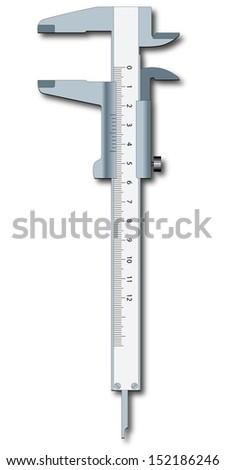 Sliding calliper  - stock photo