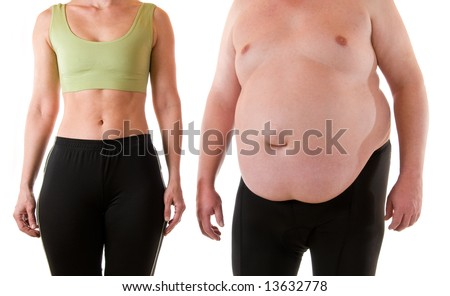 Slim and fat - stock photo