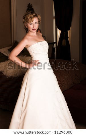 slim beautiful adult woman short blonde stock photo