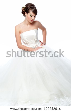 Sexy girl petticoat lingerie covers breasts stock photo for Slimming undergarments for wedding dress