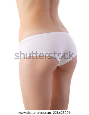 slim body isolated - stock photo