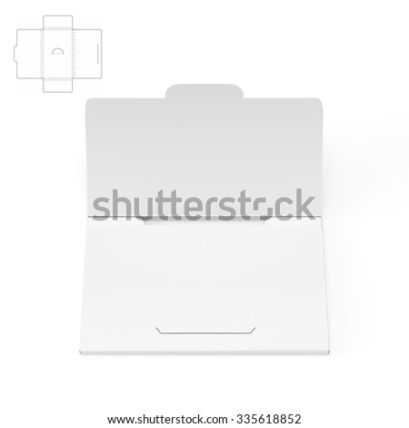 Slim business card box die cut stock illustration 335618852 slim business card box with die cut template flashek Image collections