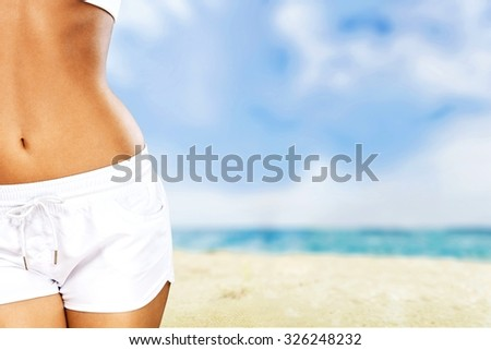Slim fitness. - stock photo